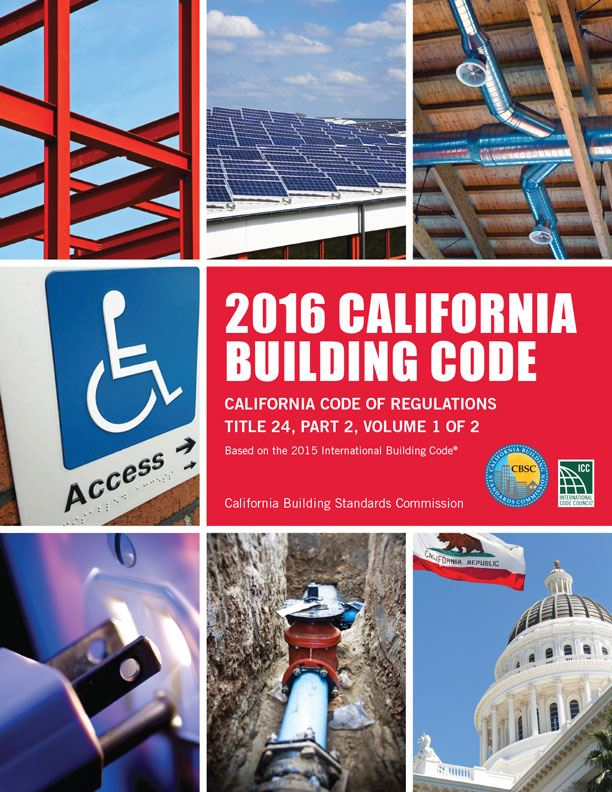 2016 California Building Code Binders