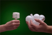 CFLs Use Much Less Electricity Than Incandescent Bulbs