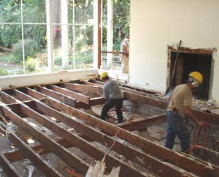 Salvaging floor joists